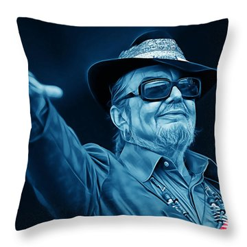 Dr John Collection Throw Pillow by Marvin Blaine