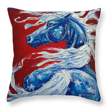 #14 July 4th Throw Pillow