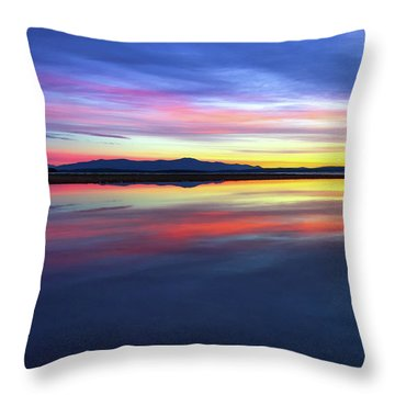 Lake Winnipesaukee - Layers Throw Pillow