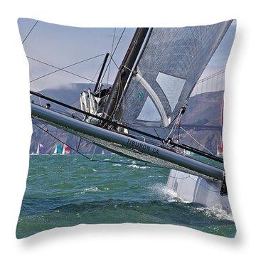 Rolex Regatta San Francisco Throw Pillow