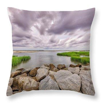 Seascape Of Hilton Head Island Throw Pillow