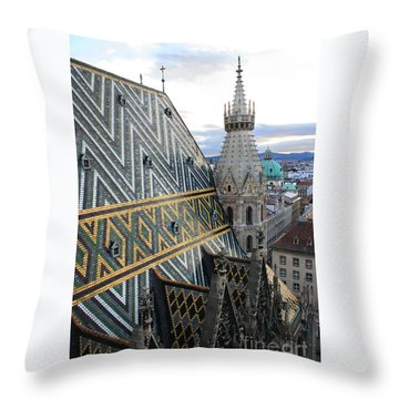 St Stephens Cathedral Vienna Throw Pillow by Angela Rath