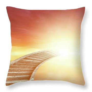 Throw Pillow featuring the photograph Stairway To Heaven by Les Cunliffe