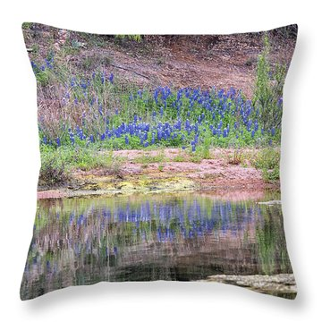 Texas Bluebonnets 8 Throw Pillow