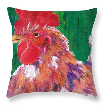 #14 Trouble Two Throw Pillow