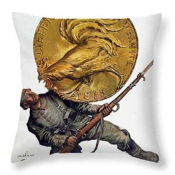 World War I: French Poster Throw Pillow