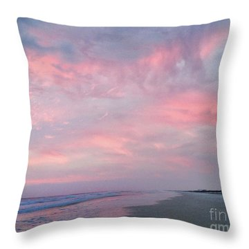 Throw Pillow featuring the photograph  Pretty In Pink by LeeAnn Kendall