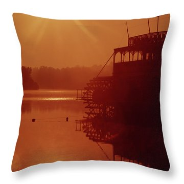 Throw Pillow featuring the photograph 148223 Mississippi River Sternwheeler  Ga by Ed Cooper Photography