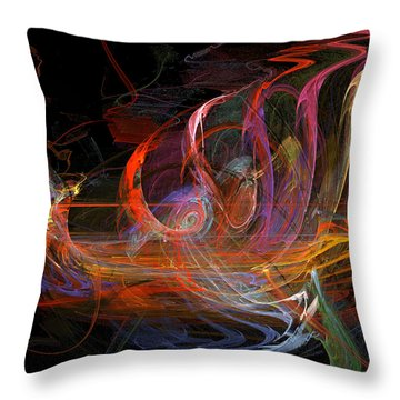 1492 Cruise Throw Pillow by Jackie Mueller-Jones