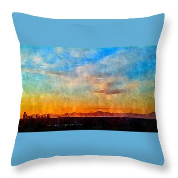 14th Floor Bellevue Place  Throw Pillow