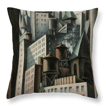 14th Street New York City Throw Pillow