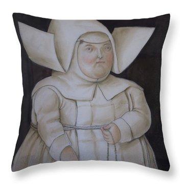 Bogota Museo Botero Throw Pillow