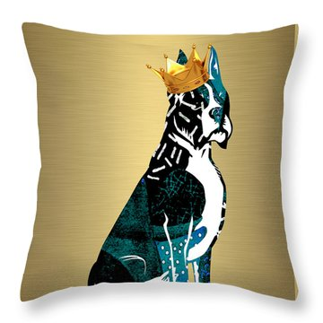 Boxer Collection Throw Pillow by Marvin Blaine