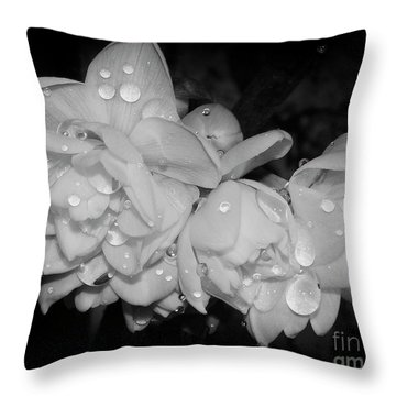 Throw Pillow featuring the photograph Flowers by Elvira Ladocki