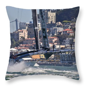 Oracle America's Cup Throw Pillow
