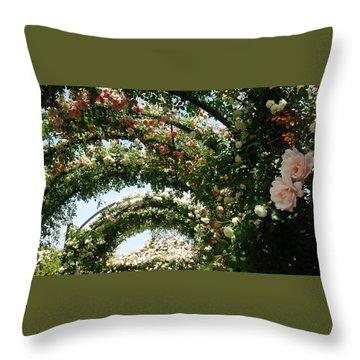 Rose Throw Pillow by Tomoko Takigawa