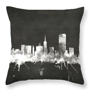 San Francisco City Skyline Throw Pillow