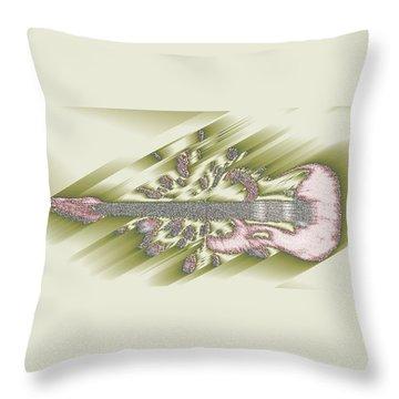 Wedding Guitar Throw Pillow