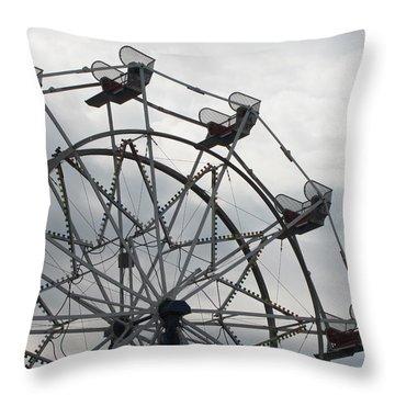15th Street Ferris Wheel Throw Pillow