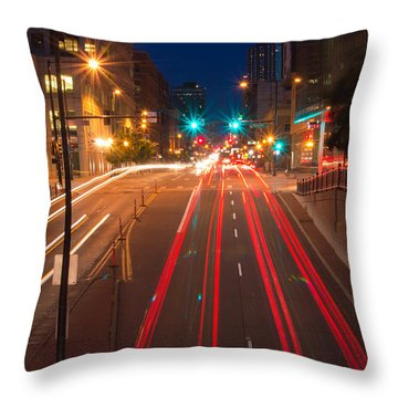 15th Street Throw Pillow