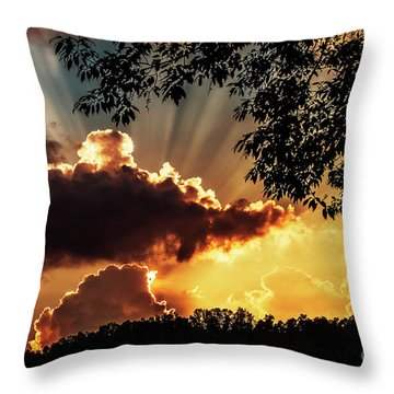 Throw Pillow featuring the photograph Appalachian Sunset by Thomas R Fletcher