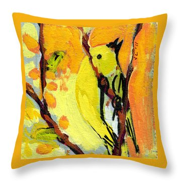16 Birds No 1 Throw Pillow