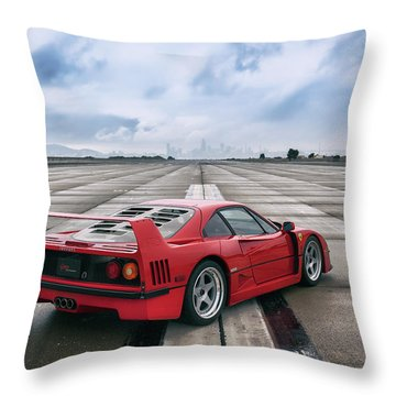 Throw Pillow featuring the photograph #ferrari #f40 #print by ItzKirb Photography