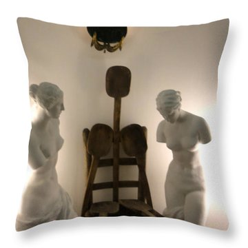 Throw Pillow featuring the sculpture Salvador Dali Museum by Gregory Dyer
