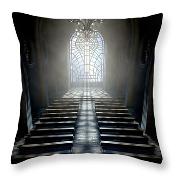 Stained Glass Window Church Throw Pillow
