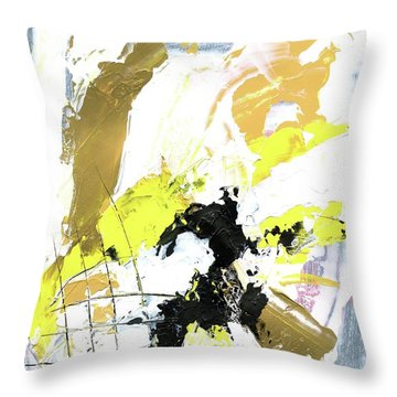 Three Color Palette Throw Pillow by Michal Mitak Mahgerefteh