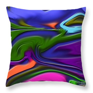 1691 Abstract Thought Throw Pillow