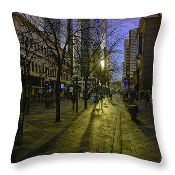 16th Street Mall Throw Pillow