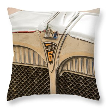 1931 Willys Convertible Car Antique Vintage Automobile Photograp Throw Pillow