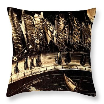 Jazz Throw Pillow by Mark Kazav