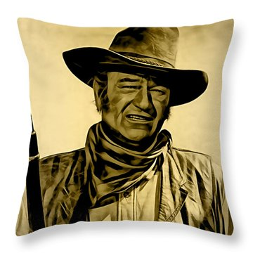 John Wayne Collection Throw Pillow by Marvin Blaine