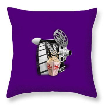 Movie Room Decor Collection Throw Pillow by Marvin Blaine