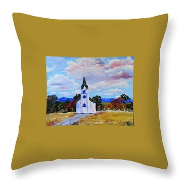 #17 St. Johns Historic Church On Hwy 69 Throw Pillow