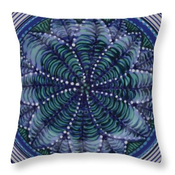 Throw Pillow featuring the ceramic art #1702 by Kym Nicolas