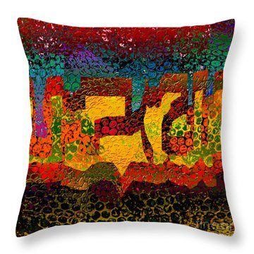 1732 Abstract Thought Throw Pillow