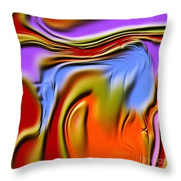 1765 Abstract Thought Throw Pillow