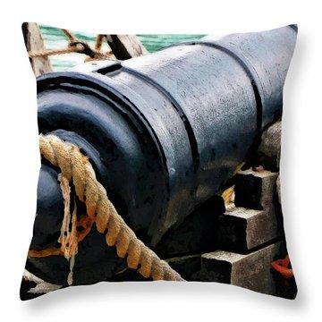 1776 Philadelphia II Canon Throw Pillow by Rena Trepanier