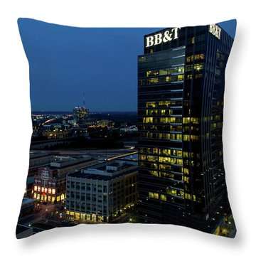 17th Street Skyline Throw Pillow