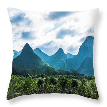 Countryside Scenery In Autumn Throw Pillow