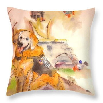 Dogs  Dogs  Dogs  Album  Throw Pillow by Debbi Saccomanno Chan