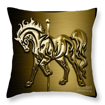 Horse Collection Throw Pillow by Marvin Blaine
