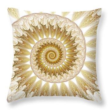 Throw Pillow featuring the digital art 18 Karat by Lea Wiggins