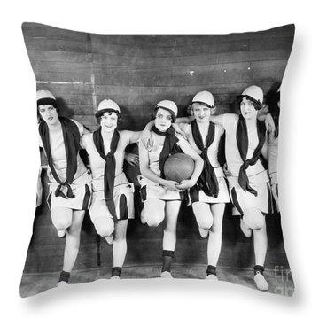 Silent Film Still: Sports Throw Pillow by Granger