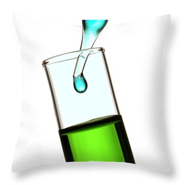 Test Tube In Science Research Lab Throw Pillow