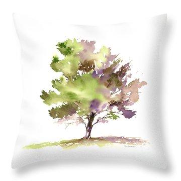 #18 Tree Throw Pillow by Amy Kirkpatrick