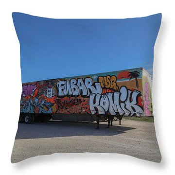 18 Wheeler Art Throw Pillow